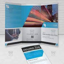 brochure psd template 3 fold 3 fold brochure template psd creative agency trifold brochure