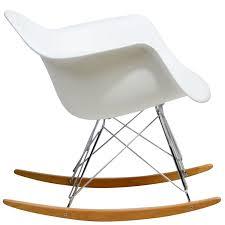 Stylish Rocking Chair Amazon Com Modway Molded Plastic Armchair Rocker In White