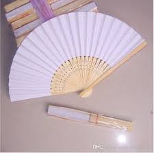 white paper fans fans blank paper fan wooden folding fan set of 50