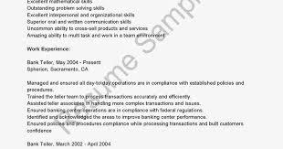 Resume Examples Bank Teller by Bank Of America Teller Cover Letter