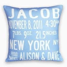 personalized pillows for baby birth announcement pillow the personalized baby gift