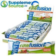 san rawfusion san nutrition fusion bars canada