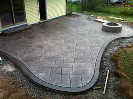 Large Firepit Flooring Sted Concrete Patio And Pit Large Ashlar Pattern
