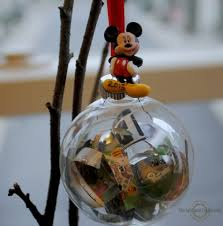 diy disney map ornament upright and caffeinated