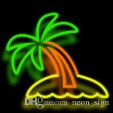 palm tree neon light palm tree neon sign real glass custom handmade beer bar ktv club pub