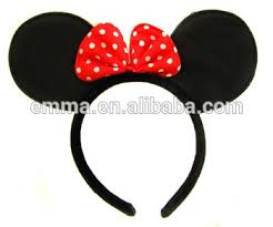 wholesale colors hair accessories mickey mouse ear minnie