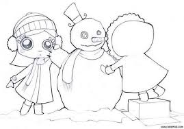 coloring page snowman family friends make a snowman coloring pages hellokids com