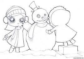 friends snowman coloring pages hellokids