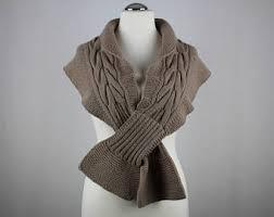 handknit wool scarf etsy