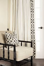 curtains drapery panels stunning black and white print curtains