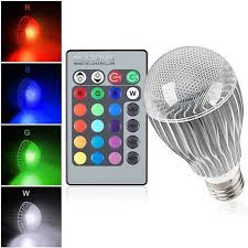 led christmas lights with remote control e27 9w ir remote control 16 color change rgb led ball bulbs 85 256v