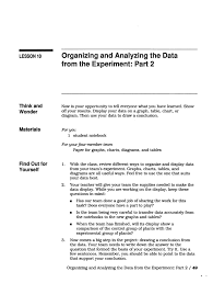 organizing and analyzing the data from the experiment part 2