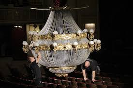 paris opera house chandelier mammoth chandelier a star of u0027phantom u0027 tour the daily gazette