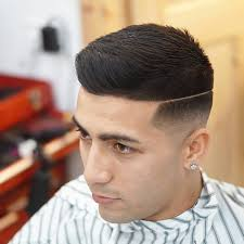 razor cut hairstyle with spiky on top 40 chic and modern hard part haircut ideas cuts with a trendy touch