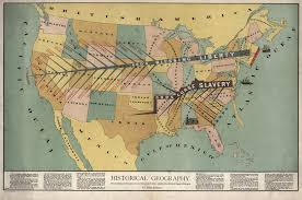 Geographic Map Of The United States by John F Smith U0027s Anti Slavery Map 1888