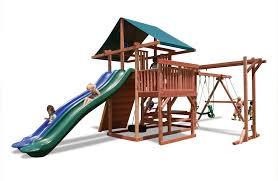 Backyard Products Monroe Mi Main Attraction Backyard Play Set With Monkey Bars U0026 Slides
