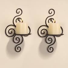Silver Wall Sconce Candle Holder Candle Sconces You U0027ll Love Wayfair