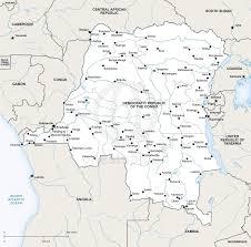Republic Of Congo Map Vector Map Democratic Republic Of The Congo One Stop Map