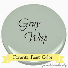 Ben Moore by Benjamin Moore Gray Wisp Favorite Paint Color Postcards From
