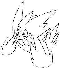 coloring mega evolved pokemon mega gengar 94 94