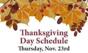thanksgiving day special class schedule revolution community