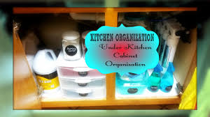 home organization under kitchen sink cabinet organization youtube