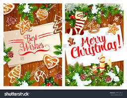 merry best wishes greeting card stock vector 769513912