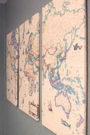 Maps Good Vintage Map Diy Decoupage Mod Podge Wall Decor 14 Diy Map