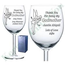 wine glass gift godmother godfather personalised wine glass gift present