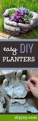 Cool Planters These Diy Concrete Hand Planters Are Easier To Make Than You Think