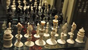 antique vizagapatam chess set 4 5 8