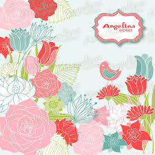 Flower Design For Scrapbook Flowers Background Digital Floral Clip Art Scrapbook Paper