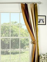 decorate windows with faux silk curtains