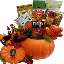 thanksgiving gift baskets fall harvest ceramic pumpkin gourmet food gift basket gift