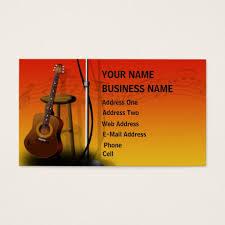 guitar business cards templates zazzle