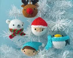 amigurumi crochet woodland ornament pattern set