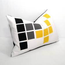 Home Decorators Outdoor Pillows by Outdoor Pillows Grey Geometric Gustitosmios Black White Pillow