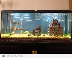 Super Mario Home Decor Just An Aquarium Aquariums Stuffing And House
