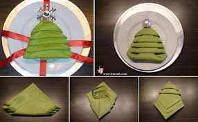 how to make tree napkin fold step by step tutorial