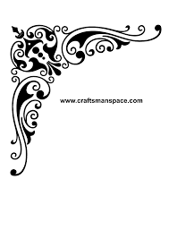 corner design ornament svg