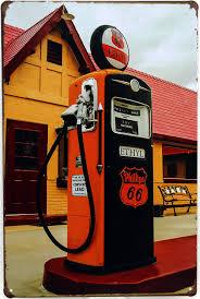 pompe essence vintage décoration station service route 66 chez phillips