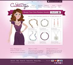 design your own necklace new site launch design your own jewelry on customgia