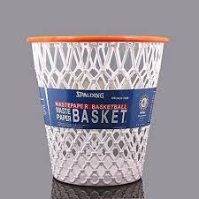 spalding trash waste wastebasket basketball net basket bin nba