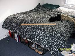 best bed frame ever or make a bed with storage out of milk