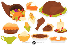 thanksgiving food clipart illustrations creative market