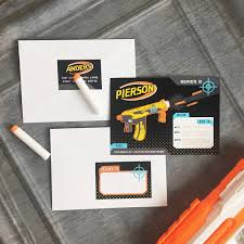 new nerf gun or laser tag birthday party invitation and printables