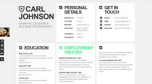 Unique Resumes Templates Resume Template Website Resume Flat Web Design Flat Resume
