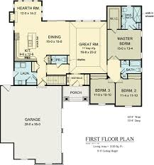 House Plans With Media Room First Floor Plan Of Ranch House Plan 54037 Skip Hearth Room Extend