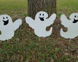 outdoor halloween decorations etsy