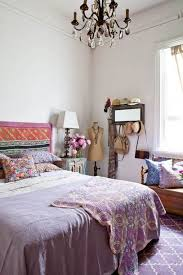 bedroom ideas for women bohemian style with chandelier lighting